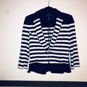 White house black market  stripes blazer size 10